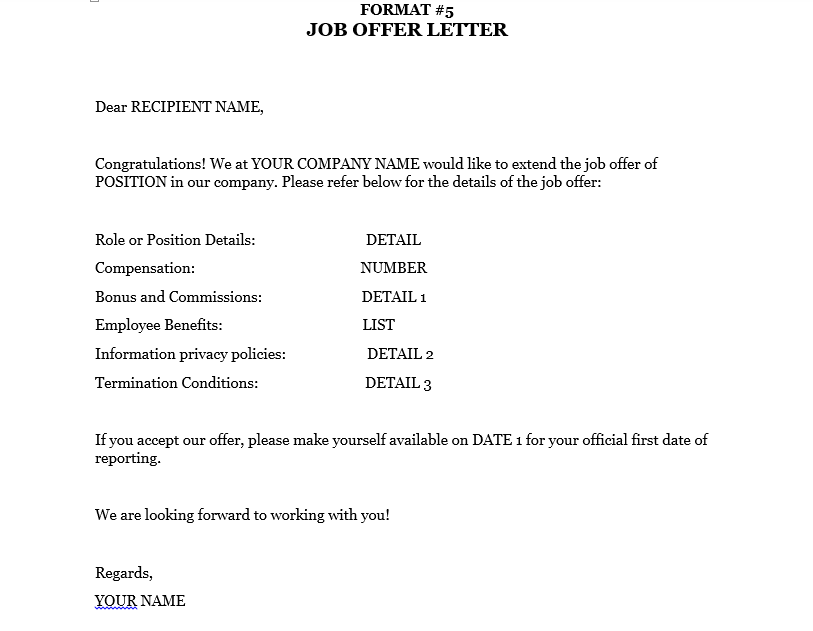 New Job Offer Letter from www.omsaigroupconsultancy.com